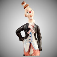 Small Vintage Porcelain Hobo Clown Figurine