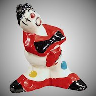 Vintage Alma of California Pottery Clown - Bright Colors