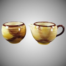 Vintage Vernon Kilns Organdie Pattern Cream and Sugar Set