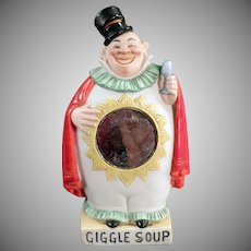 Vintage Flask - Porcelain Clown Giggle Soup Whimsy