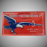 Vintage Burd Razor Blades - Full Unopened Box with Bird Graphics