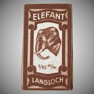 Vintage Elefant Langloch Razor Blades in Original Box with an Elephant