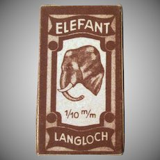 Vintage Elefant Langloch Razor Blades in Original Box with an Elephant