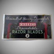 Vintage Razor Blades - Enderes Razor Blades and Unopened Box