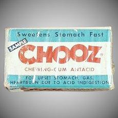 Vintage Medicine Box - Chooz Antacid Gum Box - Medical Sample