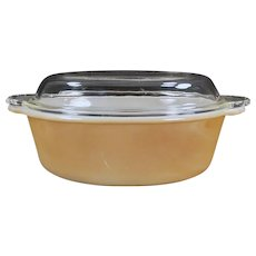 Vintage Anchor Hocking - Fire King Copper Tint Ovenware - 1 1/2qt Casserole Dish with Lid