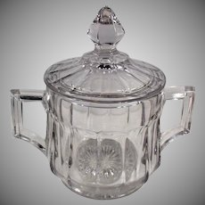 Vintage Heisey Glassware - Covered Sugar Bowl  #393 Pattern