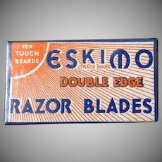 Vintage Razor Blades - Eskimo Razor Blades with Unopened Original Box