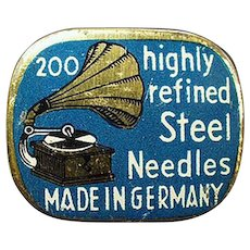 Vintage Needle Tin - Highly Refined Steel Phonograph Needles Tin