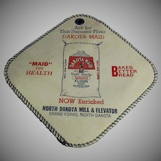 Vintage Dakota Maid Advertising Potholder - North Dakota Flour Mill and Elevator Co.