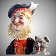 Vintage Schafer and Vater Flask - Old Scotch Man and Little Scotch Dog