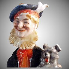 Vintage Schafer and Vater Flask - Old Scotch and Little Scotch - Figural Man & Dog