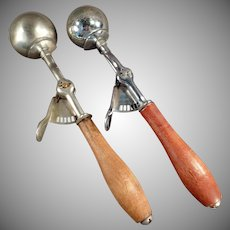 Pair of Vintage Canadian Ice Cream Scoops - Two for One Price
