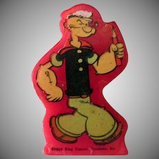 Vintage Popeye Pencil Sharpener – Red Catalin