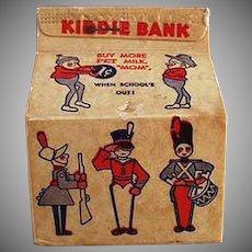 Vintage Pet Milk Advertising Bank - Small Milk Carton with Brownies