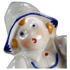 Vintage Egg Timer - Little Dutch Porcelain Girl - Made in Germany