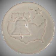 Vintage Frankoma Pottery Christmas Card - 1976 Bicentennial Tribute