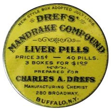 Vintage Drefs' Mandrake Compound Liver Pills Tin – Old Medical Advertising