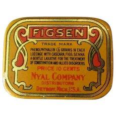 Vintage Medicine Tin –Figsen Laxative – Old Medical Advertising