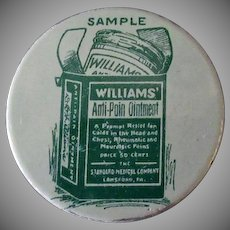 Vintage Williams' Anti-Pain Ointment Sample Tin – Old Medical Advertising