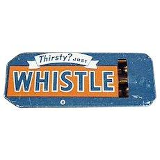 Vintage Tin Whistle - Golden Orange Refreshment Whistle Soda Advertising