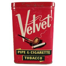 Vintage Vertical Pocket Tobacco Tin - Velvet Pipe & Cigarette Tobacco Tin