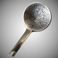 Vintage Sterling Silver Miniature Spoon – Taxco - Mayan Aztec Calendar