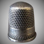Vintage Sterling Thimble – Goldsmith Stern Simple Design –Size 10