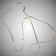 """14k Gold 16"""" Serpentine Neck Chain - Very Delicate Necklace"""