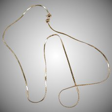 "14k Gold 16"" Serpentine Neck Chain - Very Delicate Necklace"