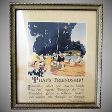 Vintage Buzza Motto Print – That's Friendship by Lawrence Hawthorne - 1926