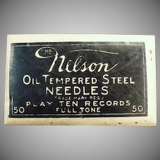 Vintage Steel Phonograph Needles - Nelson 50 - Unopened Package