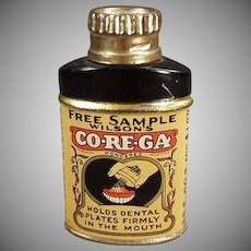 Vintage Sample Tin - Wilson's Co-Re-Ga Tooth Powder for Dentures