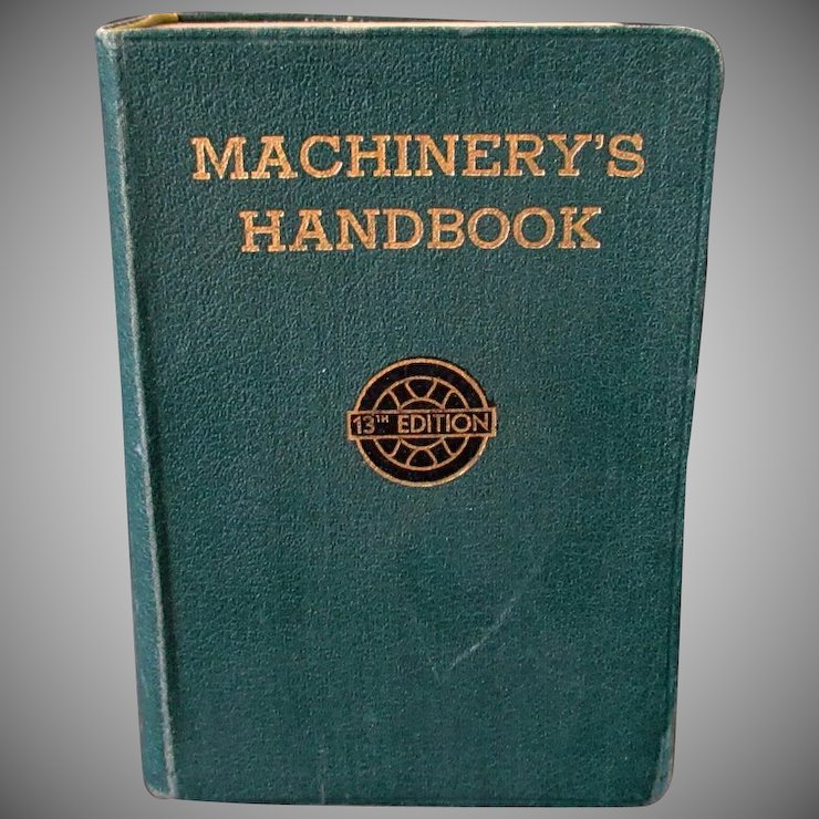 Old reference book machinerys handbook 13th edition machine old reference book machinerys handbook 13th edition machine shop drafting room ccuart Images