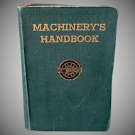 Old Reference Book – Machinery's Handbook 13th Edition – Machine Shop & Drafting Room
