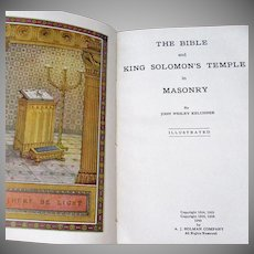 Vintage Masonic Bible – King Solomon's Temple in Masonry – Holman Edition Holy Bible