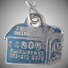Vintage Dog Tag – Escondido Humane Society Dog House License