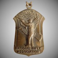Vintage NRA Medal - National Rifle Association - 1965 - Pin with Original Ribbon