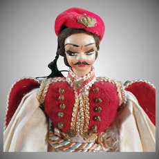 Vintage Greek Doll - Plastic Doll in Traditional Greek Costume