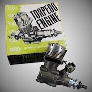 Vintage K&B Torpedo 40RC - Front Rotor, Gas Powered Engine & Perry Carburetor
