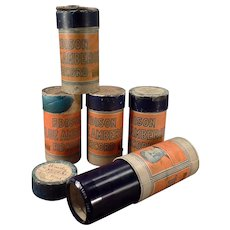 Vintage Cylinder Phonograph Records - Old Edison Blue Amberol - Lot of 5