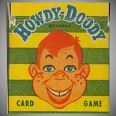 Vintage Card Game - Howdy Dowdy Card Game with Original Box