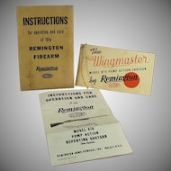 Vintage Remington Wingmaster Model 870 Shotgun Instruction Booklet