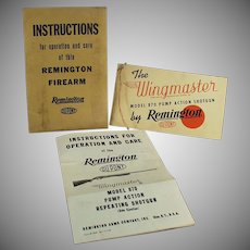 Vintage Remington Wingmaster Model 870 Shotgun Instruction Booklet