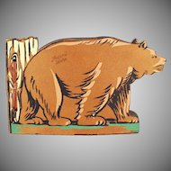 Vintage Photograph Scrap Book with Bear - Moscow Idaho Souvenir
