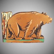 Vintage Photograph Scrap Book with Bear - Moscow Idaho Souvenir