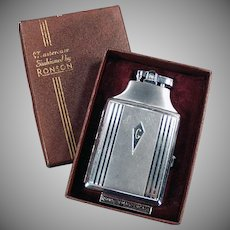 Vintage Ronson Cigarette Lighter - Mastercase Cigarette Case Lighter with Original Box