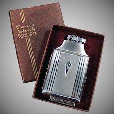 Vintage Ronson Cigarette Lighter - Mastercase Cigarette Case Lighter with Original Box
