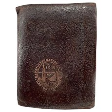 Vintage Golden Gate International Exposition - 1940 Leather Wallet Souvenir