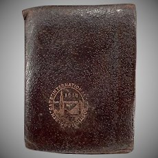 Vintage Golden Gate International Exposition - 1940 Leather Wallet Souvenir